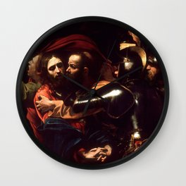 The Taking of Christ by Caravaggio (1602) Wall Clock