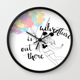 UP Adventure Is Out There Girl Wall Clock