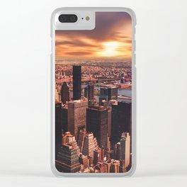 New York 18 Clear iPhone Case