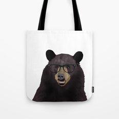 Hipster Bear Tote Bag