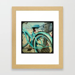 Aqua Bike Framed Art Print