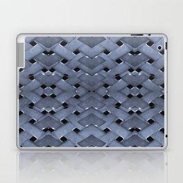 Futuristic Grid Pattern Design Print in Blue Tones Laptop & iPad Skin