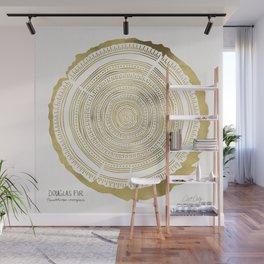 Douglas Fir – Gold Tree Rings Wall Mural