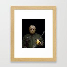 Jason horror Framed Art Print