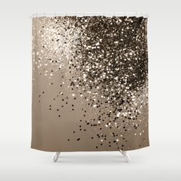 Sparkling Sepia Lady Glitter #1 #shiny #decor #art #society6 Shower Curtain
