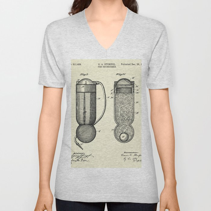 Fire Extinguisher-1893 Unisex V-Neck