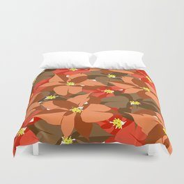 Poinsettia Love Duvet Cover
