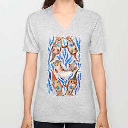 Five Otters – Blue Palette Unisex V-Neck