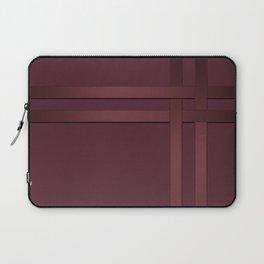 Red-brown, ribbon Laptop Sleeve