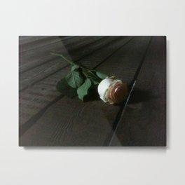 Auschwitz Rose Metal Print
