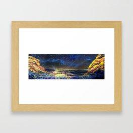 Concert at Red Rocks Painting  Framed Art Print