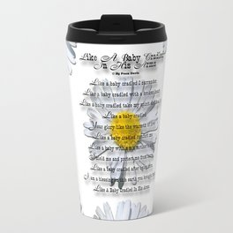 Daisy Flower with Christian Faith Base Poem Travel Mug