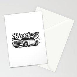 Muscle retro car Stationery Cards