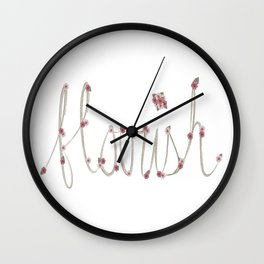 Flourish type Wall Clock