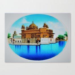 Classical Masterpiece 1825 Sri Harimandir Sahib - Golden Temple, Amritsar, India - Artist Unknown Canvas Print