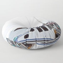 Lobster Boat Line-up Floor Pillow