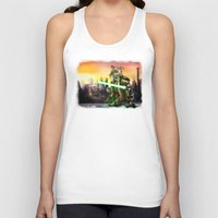 jedi Tank Tops featuring Gerbil Jedi by Wesley S Abney