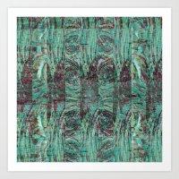 malachite Art Prints featuring Malachite by M. Noelle Studios
