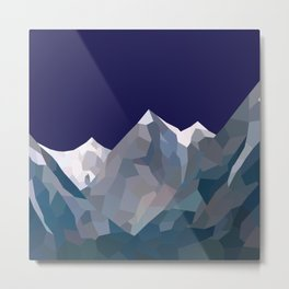 Geo Mountain Range (Part 5) Metal Print