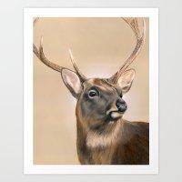 elk Art Prints featuring Elk by HeatherAckley