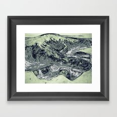 Abstracted hand in color  Framed Art Print