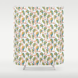 Flowing Vines Autumnal Shower Curtain
