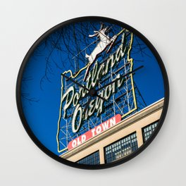 Welcome to Portland, OR Wall Clock