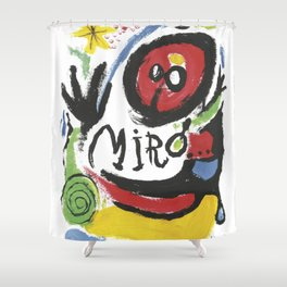 Joan Miró Tres Livres 1957 Artwork for Prints Posters Tshirts Bags Women Men Shower Curtain