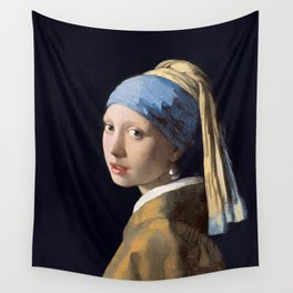 GIRL WITH A PEARL EARRING - JOHANNES VERMEER Wall Tapestry