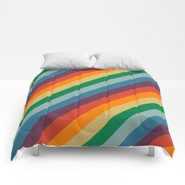 Retro Rainbow Stripes Comforters