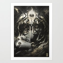 Queen of Terrors  Art Print