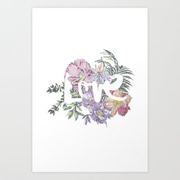 For the Love of Flowers Art Print