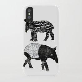 Malayan Tapir & Baby iPhone Case