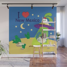Ernest and Coraline | I love New Mexico Wall Mural