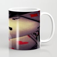 poker Mugs featuring Poker  by    Amy Anderson