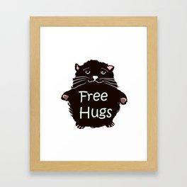 Free hugs. Cute kitty Framed Art Print