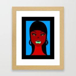 chola lady Framed Art Print