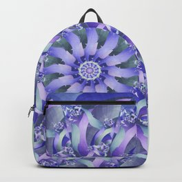 Ever Expanding Mandala in Blue and Purple Backpack