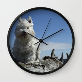 Carver by the sea Wall Clock