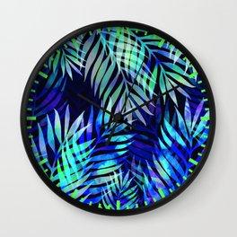 Watercolor palm pattern Wall Clock