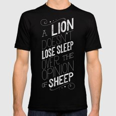 Lion Black Mens Fitted Tee LARGE