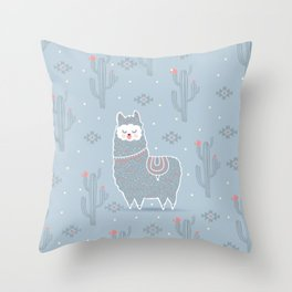 Alpaca winter Throw Pillow
