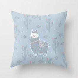 Alpaca winter Throw Pillow