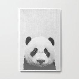 panda headshot Metal Print