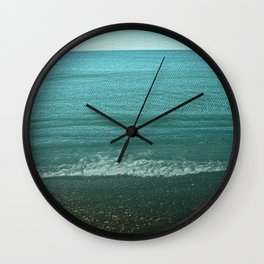 Seashore with Winter Lover Wall Clock