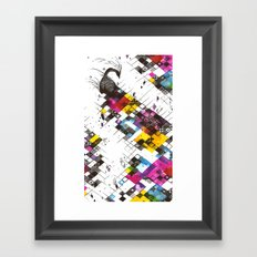 Ink Kaleidoscope Framed Art Print