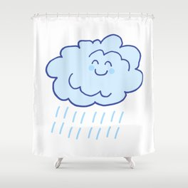 Rainy Floof Shower Curtain