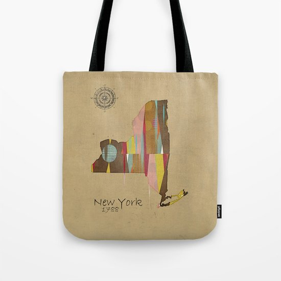 new york state map Tote Bag