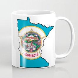 Minnesota Map with Minnesota State Flag Coffee Mug