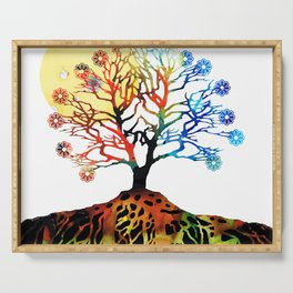 Spiritual Art - Tree Of Life Serving Tray